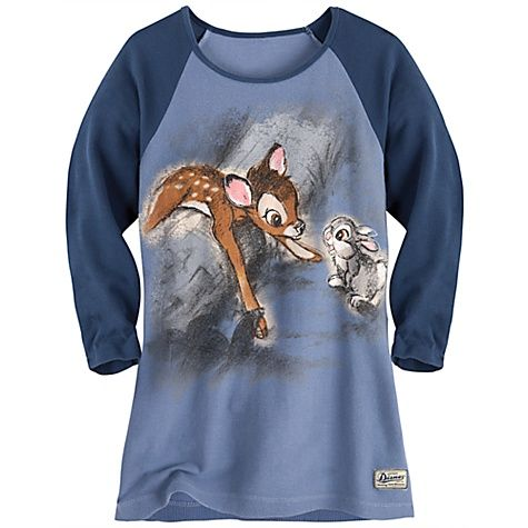 Vintage Disney Thumper And Bambi Thermal Tee For Women