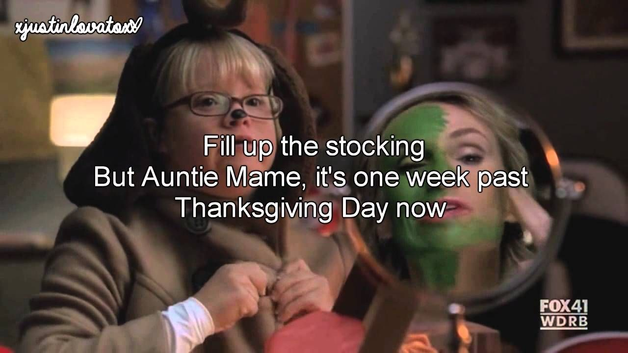 We Need A Little Christmas Glee Cast (Lyrics) Glee