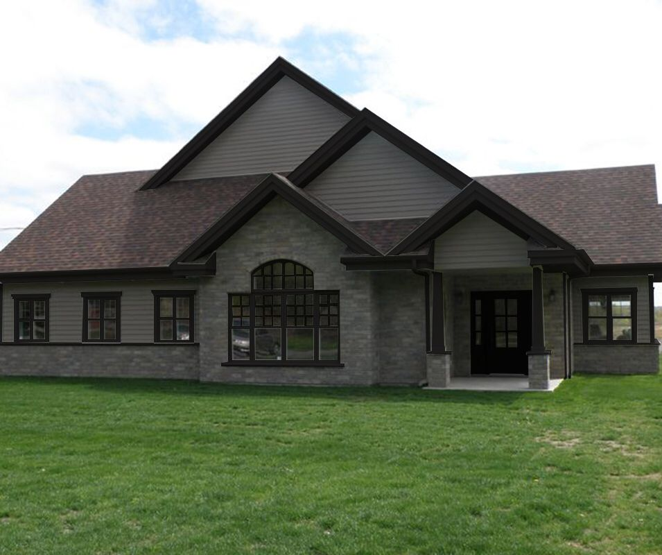 Dark Grey Soffits Lighter Siding For The Shop Brown Roofs Exterior Paint Colors For House House Paint Exterior