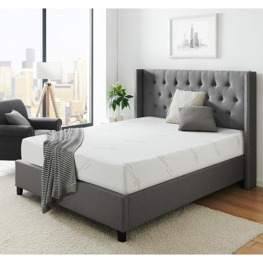 Ac Pacific Aloe 8 8 In Firm Mattress King Memory Foam Aloe 8 Ekm In 2020 Mattress Foam Mattress Bedroom Furniture