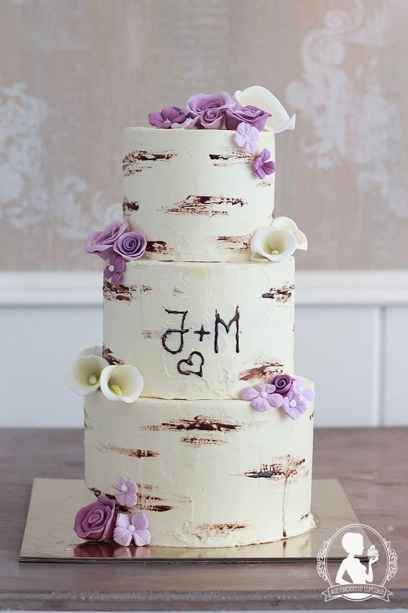 Hochzeitstorte Baumstamm Rosen Rustikal Torte Fondant Kuchen