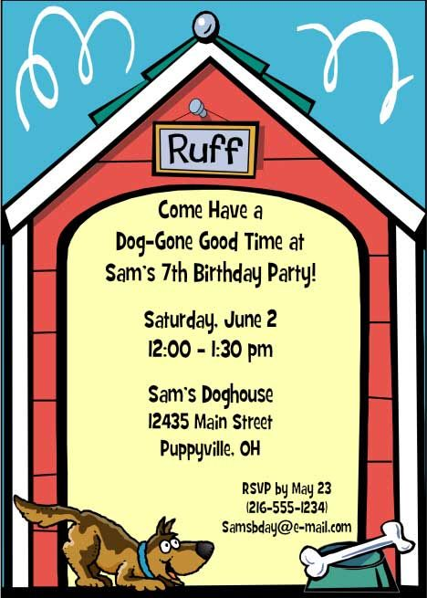 Puppy Dog Theme Party Invitation The puppy dog party is one of – Dog Themed Birthday Party Invitations