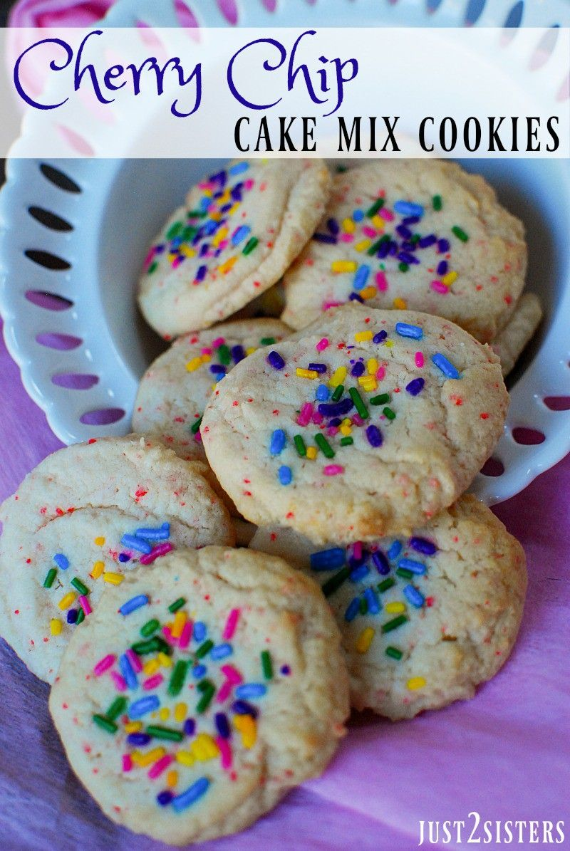 Cherry chip cake mix cookies with sprinkles recipe