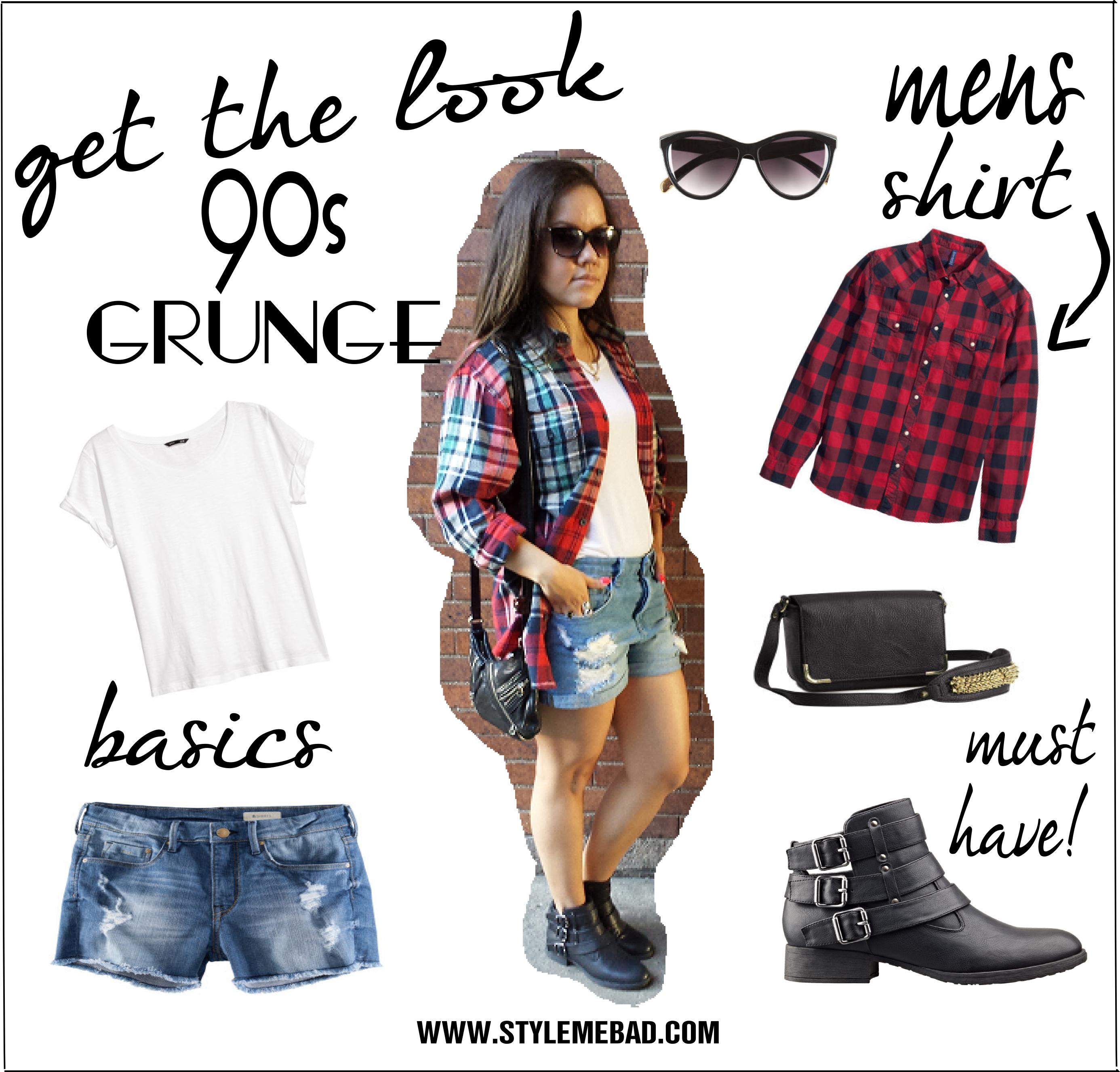 How to dress 90s grunge fashion