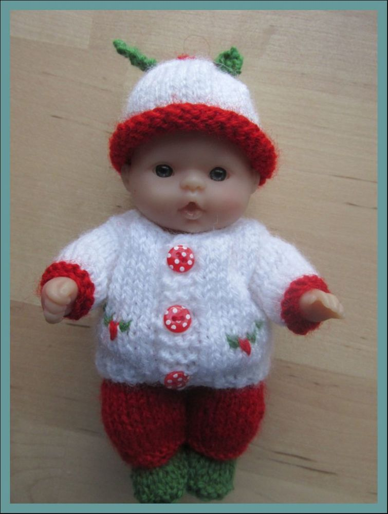 Knitting Pattern for Boy Holly Outfit for 5 Berenguer Doll   Itty ...
