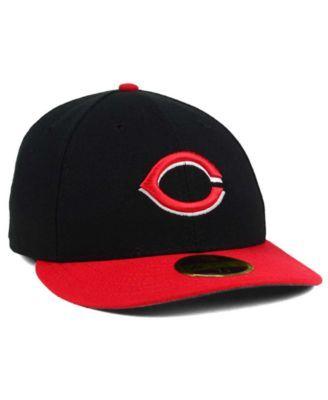 new product 2b247 6770e ... germany new era cincinnati reds low profile ac performance 59fifty cap black  red 7 3 2fddb
