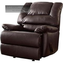 Brown Leather Rocker Recliner Big Man Lazy Boy Chair Living Room