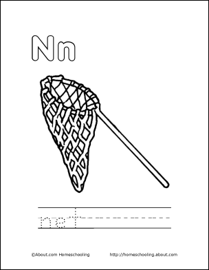Letter N Coloring Book - Free Printable Pages | Book letters ...