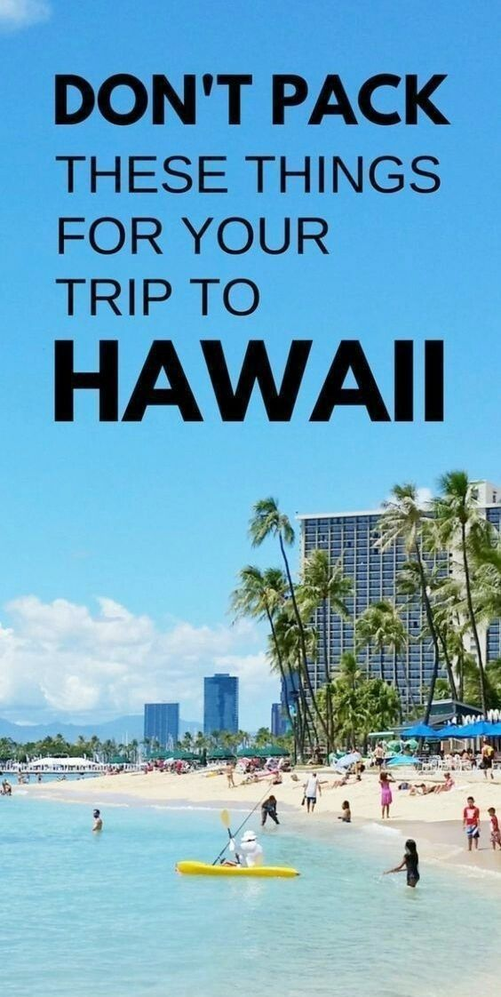 What NOT to bring to Hawaii :: What to pack for Hawaii :: Packing light for Hawaii