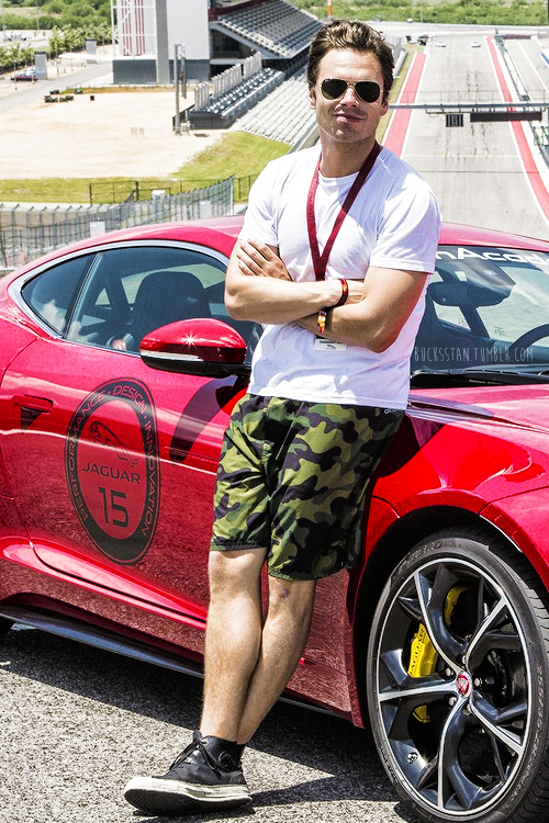 Sebastian Stan at Jaguar's Villain Academy at the Circuit of The Americas in Austin, TX (10.05.14)