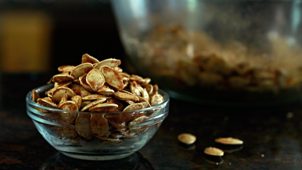 An easy and delicious way to use up those seeds left after pumpkin carving.