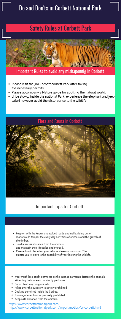 Do S And Don Ts In The Corbett National Park Every National Park Have Some Rules And Safety Tips Here Is A List Of Whats Do And National Parks Park Corbett