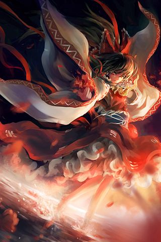 Touhou Flames Android Wallpaper Hd 東方project Pinterest Hd