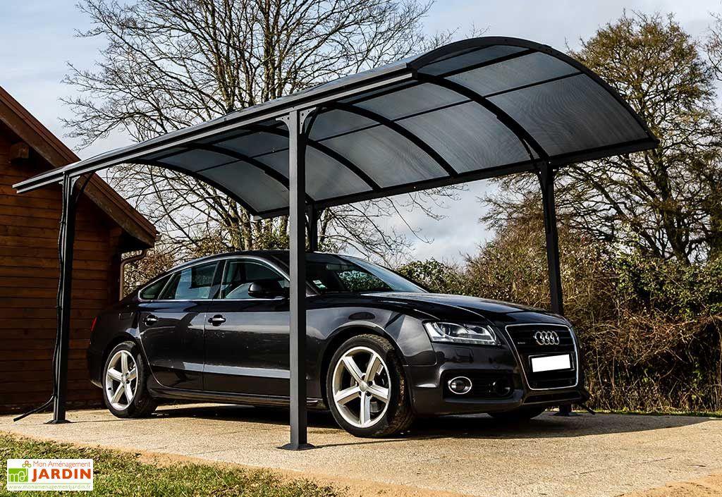 Carport Design Aluminium Toit Rond Polycarbonate 4 85 X 3 M Vis
