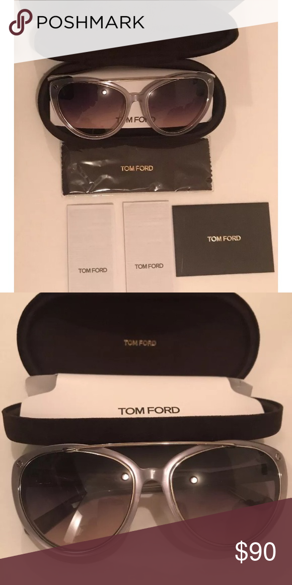 5220f2ead6 Tom Ford women s sunglasses Tom Ford women s sunglasses. Brand new with box  and 100% authentic. Clear grey and cat eye shaped Accessories Sunglasses