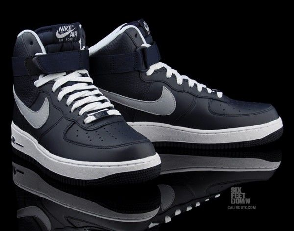 Navy Blue and White High Air Force Ones | Air force one