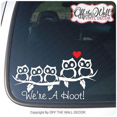 Owl Family Stick Figure Vinyl CarTruck Decal Sticker Truck - Owl custom vinyl decals for car