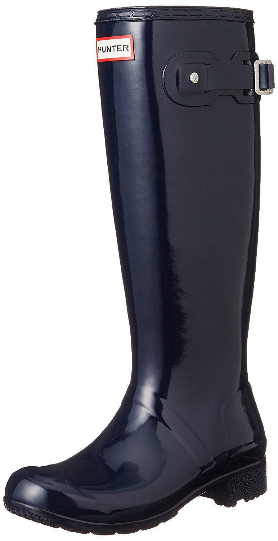 Womens Original Tour Gloss Waterproof Winter Snow Wellington Boot - Midnight - 5-36