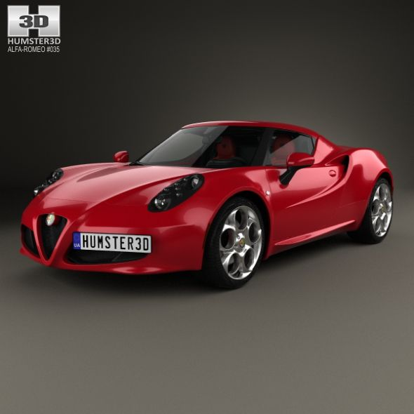 Alfa Romeo 4C With HQ Interior 2014 By Humster3d The 3D