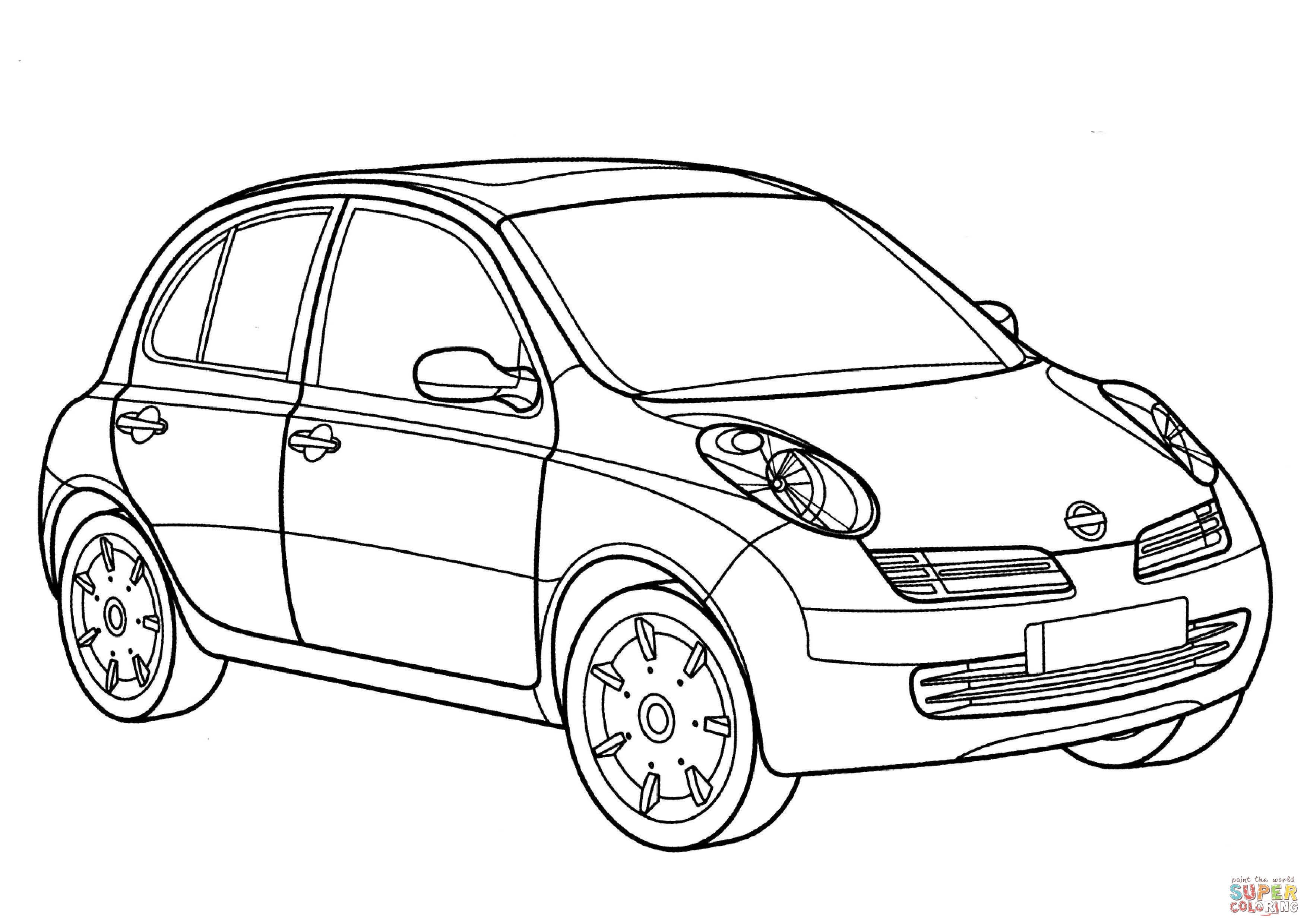 Nissan-Micra-coloring-page.jpg (3508×2480) | #nissanmicra ...
