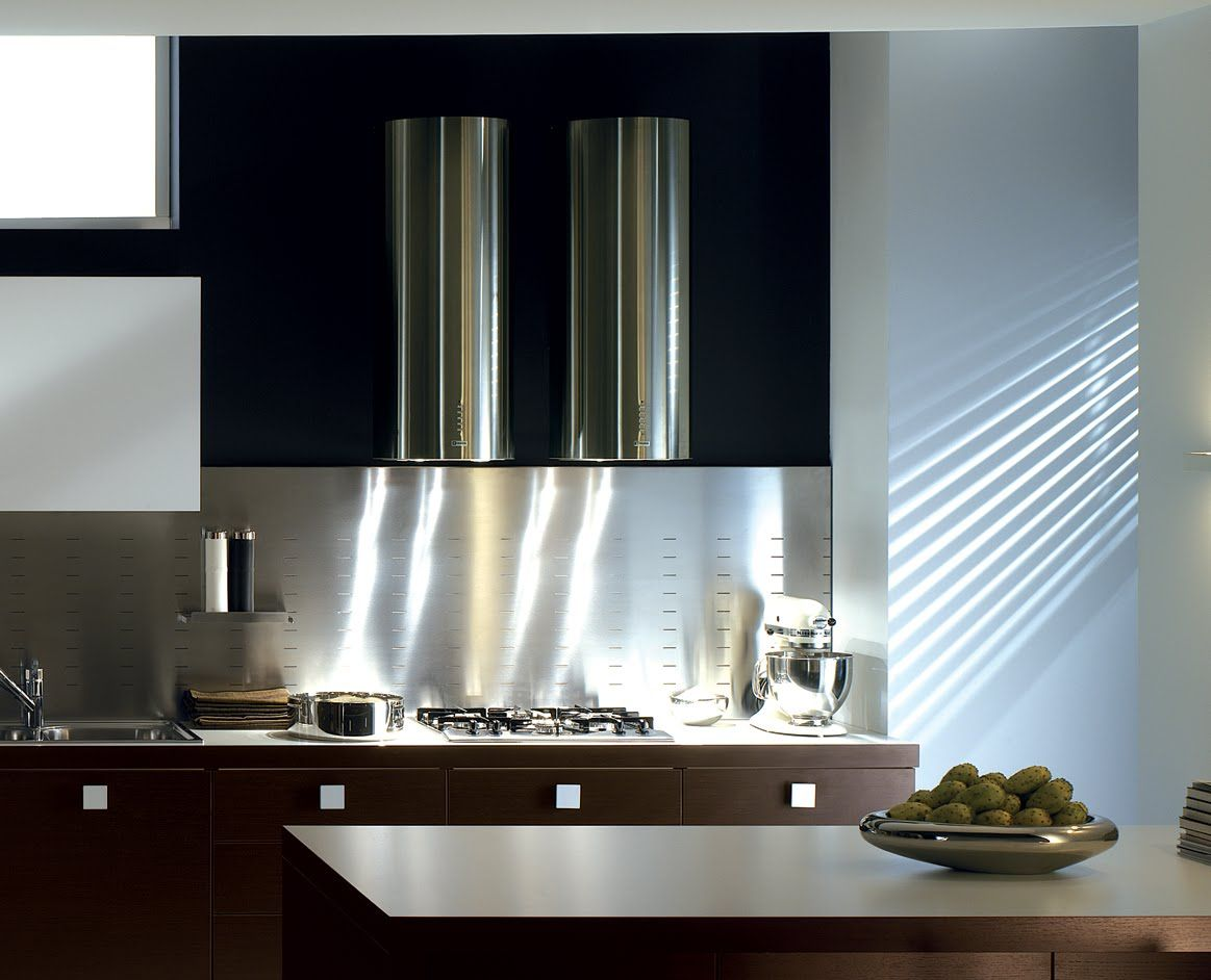 Great Looking Double Cylindra Hoods By Faber Sleek Modern And