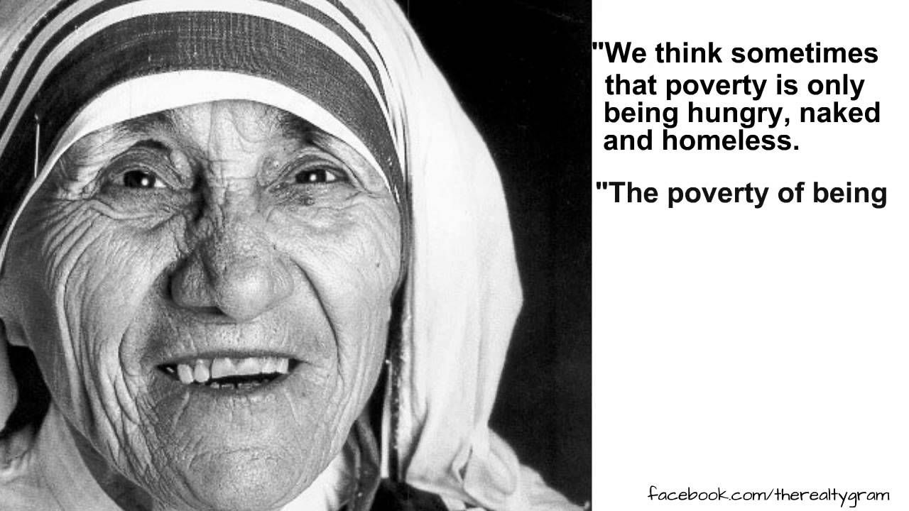 Mother Teresa Speaks Out On Poverty Video Meme Mother