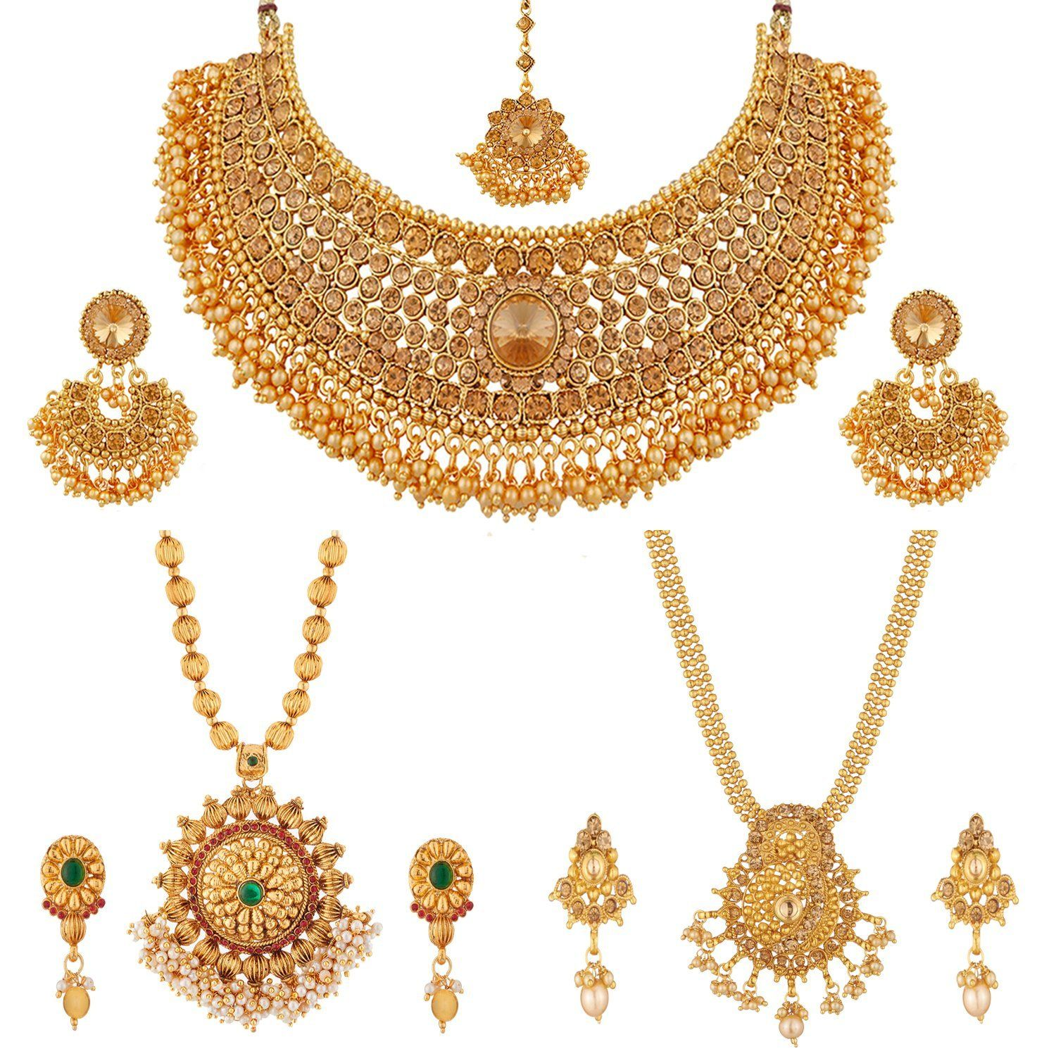 Necklace And Long Mala Jewellery Combo With Pearl For Women Mala Jewelry Antique Bridal Jewelry Online Jewelry