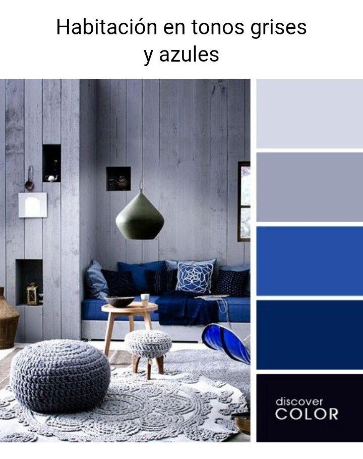 Grises Y Azules Colores De Interiores Gama De Colores Azules Paletas De Colores Grises
