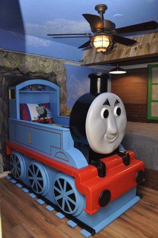 Thomas The Tank Bedroom Boys Room Train Habitaciones Para Ninos