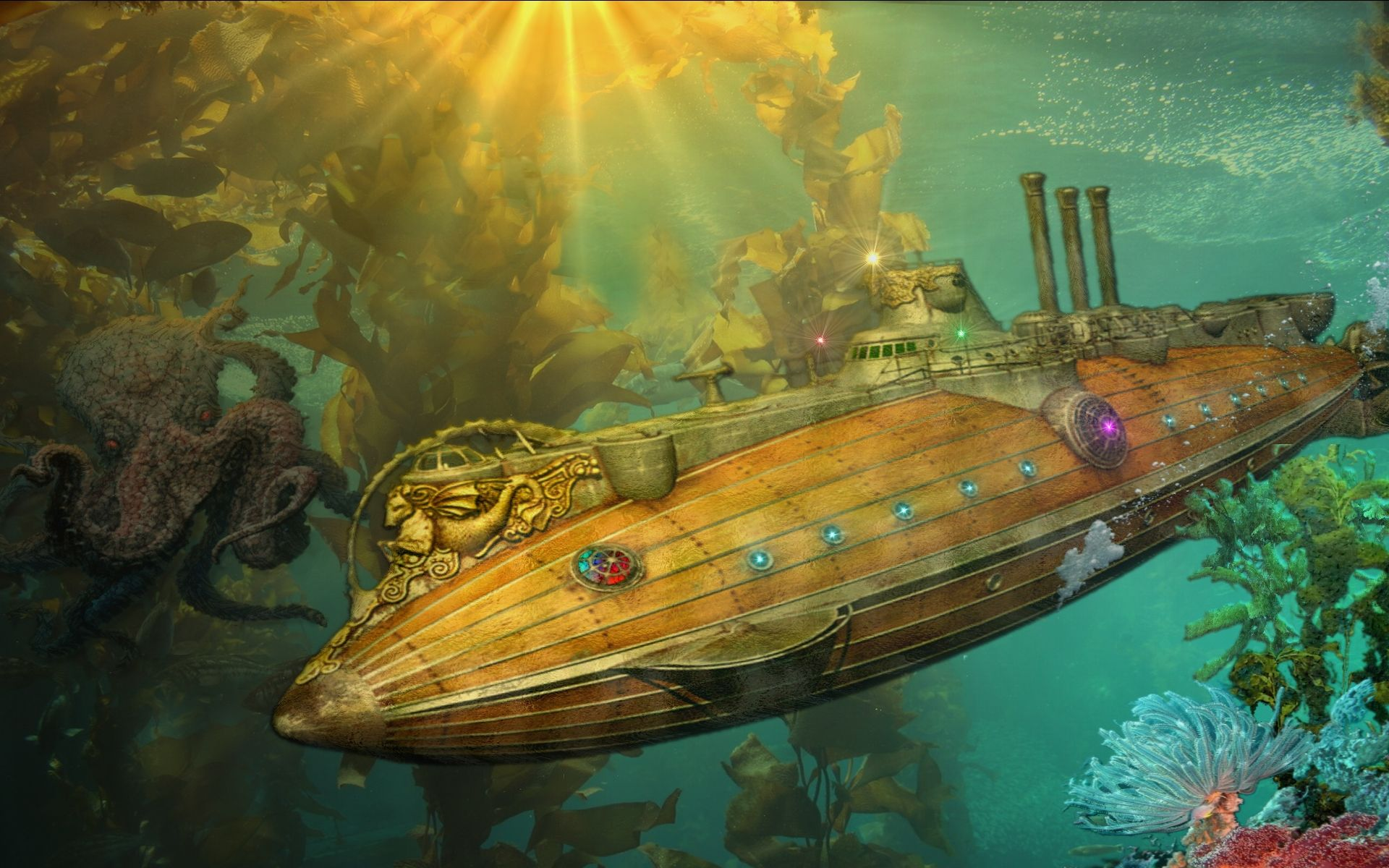 New Custom Silk Poster Subnautica Underwater Wall Decor