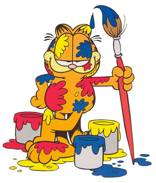 free cartoon house pictures | Garfield painting Cartoon Clipart ...