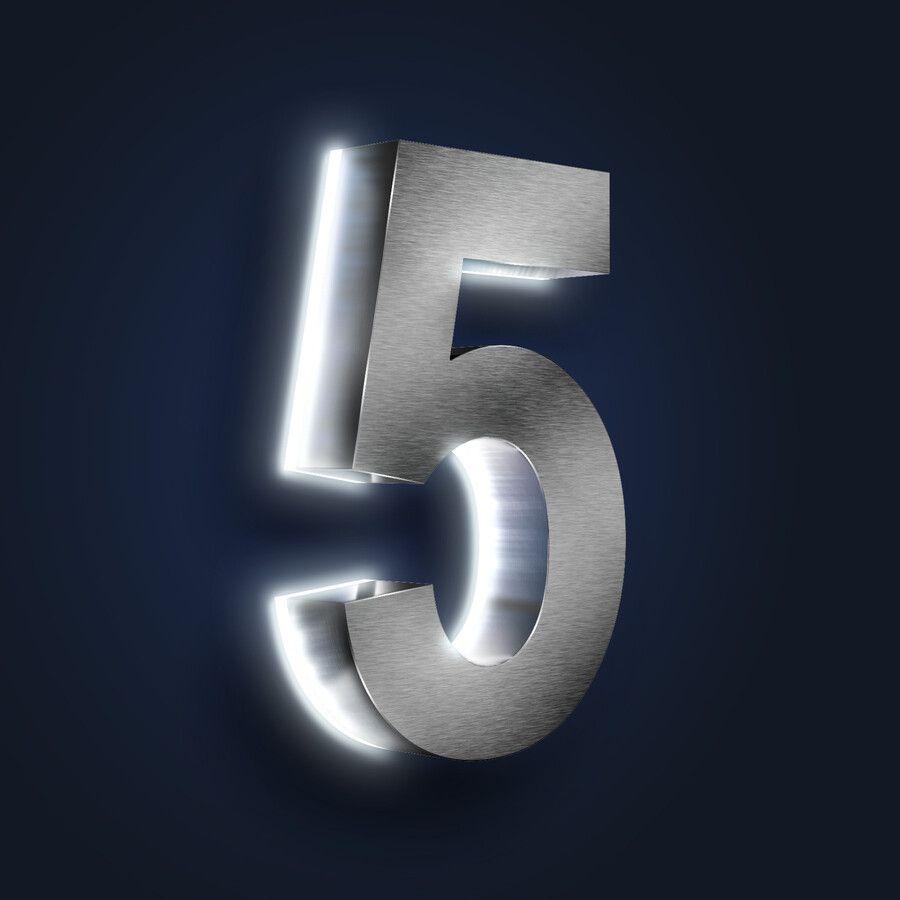 Led Beleuchtete 3d Edelstahl Hausnummer Hohe 20 Cm In 2020 Led Hausnummer Edelstahl Led Beleuchtung