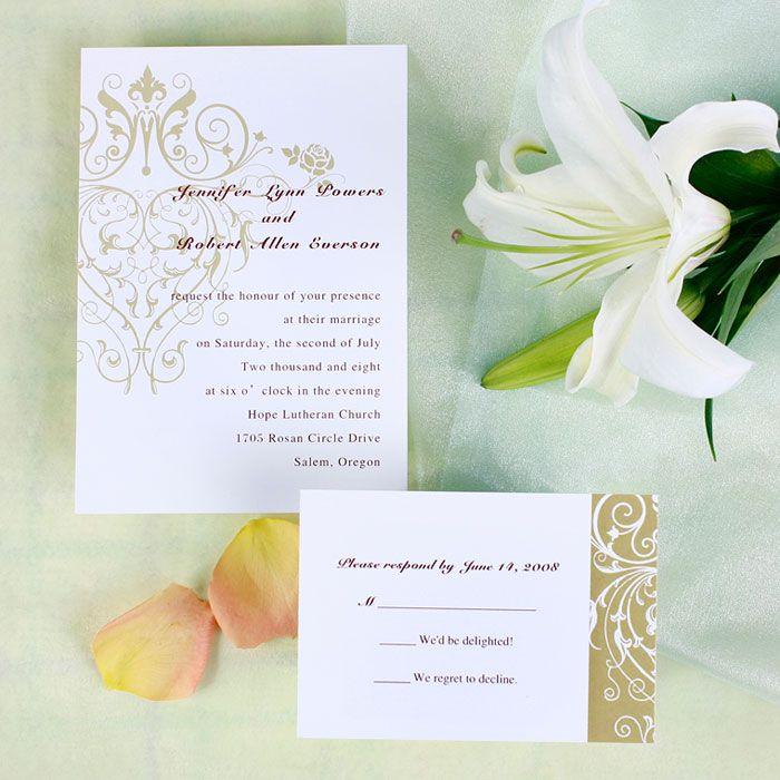 Vintage Chandelier Pattern Inexpensive Wedding Invitations Online EWI060