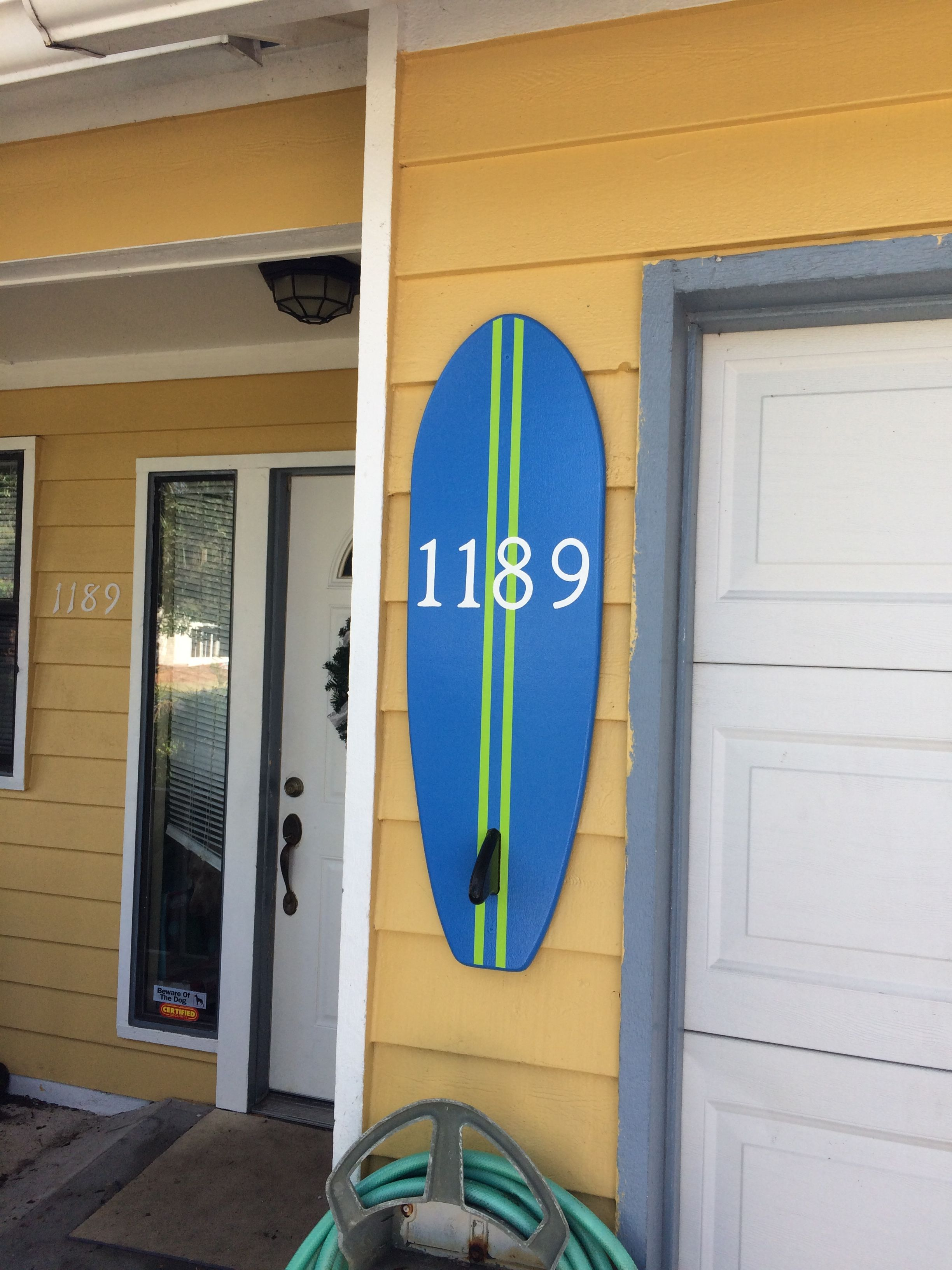 Custom made surfboard house number plaque house number signs custom made surfboard house number plaque dailygadgetfo Gallery