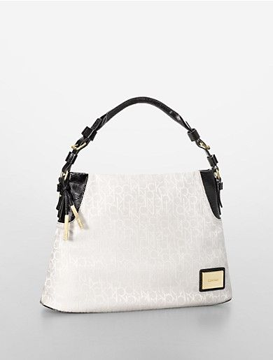 Image for logo jacquard snake texture accent hobo from Calvin Klein