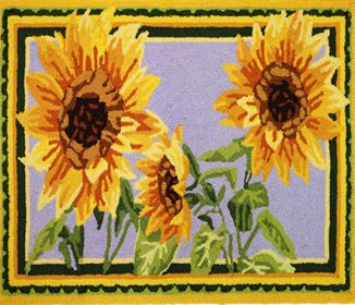 Sunflower Themed Kitchen Rugs