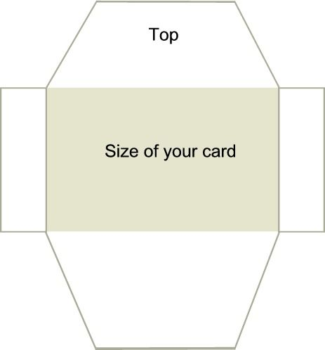 Easy Envelopes for Handmade Cards Directions 1 Lay your card - sample business envelope template