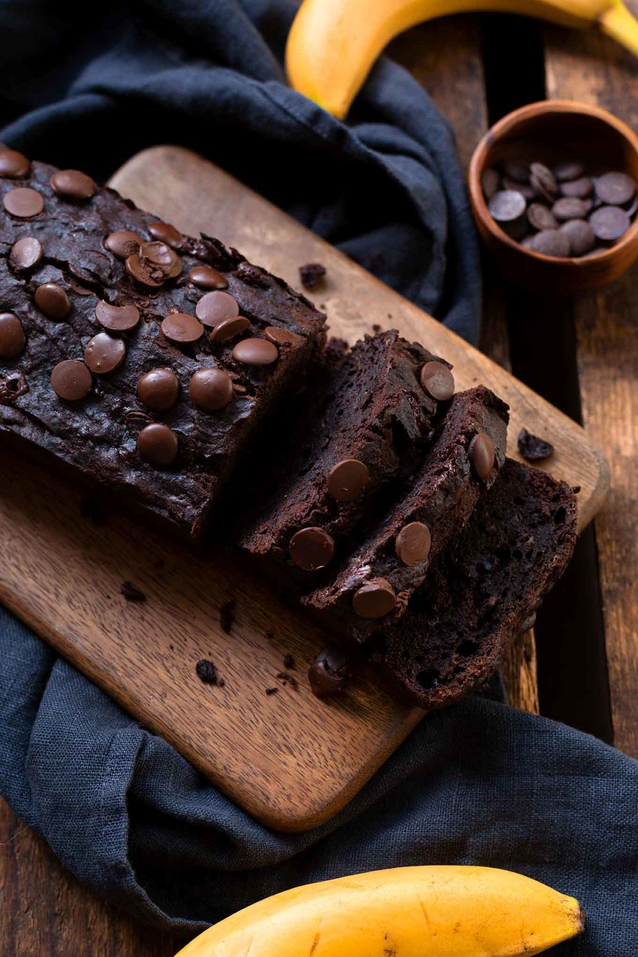 Super einfaches, saftiges Double Chocolate Banana Bread - Kochkarussell