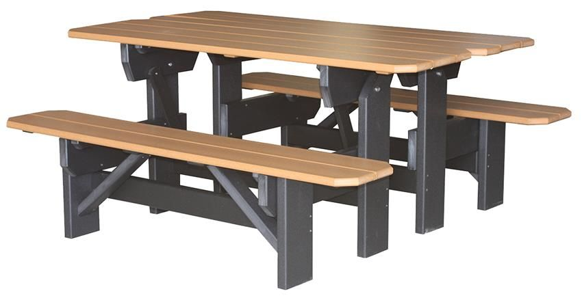 Poly Park Bench And Picnic Table Set - Polywood park picnic table