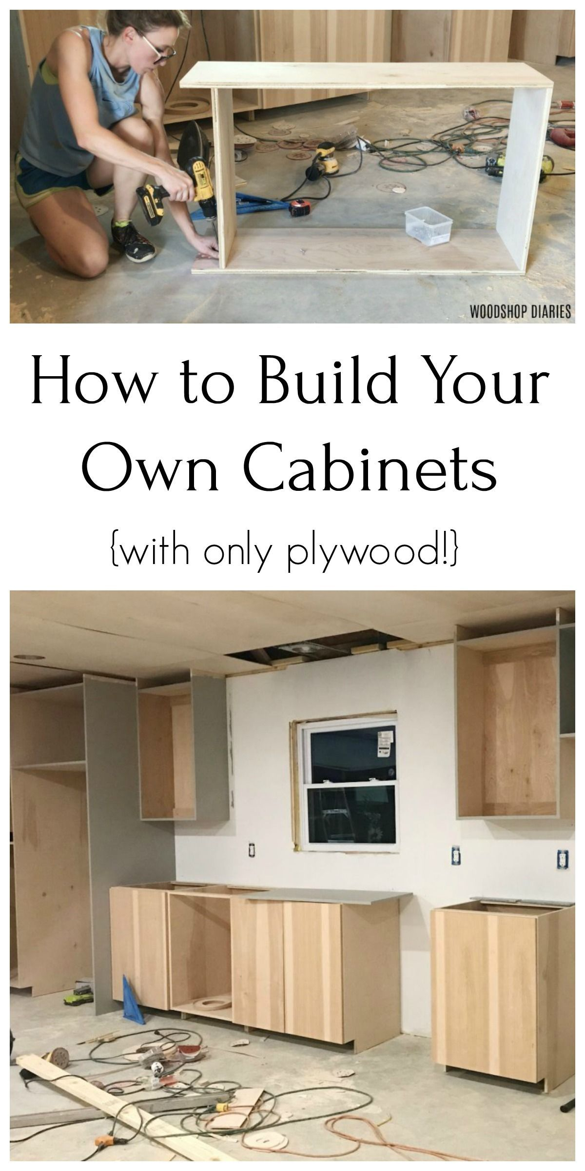 Build Your Own Cabinets From Only Plywood In 2020 Diy Kitchen Cabinets Build Building Kitchen Cabinets Kitchen Design Diy