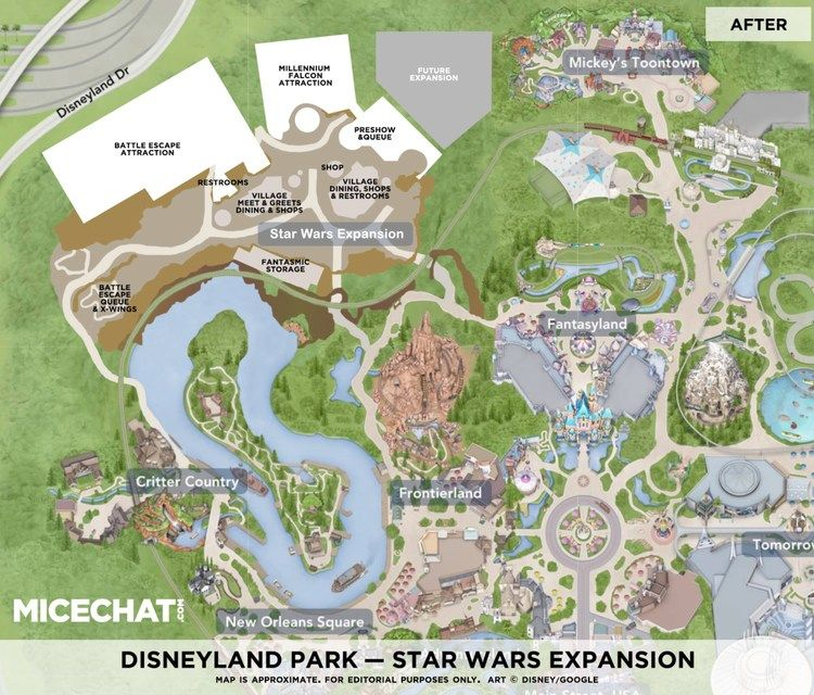 photograph relating to Printable Disneyland Maps named Disneylands Star Wars Land Progress Design and style Detailed within just Map
