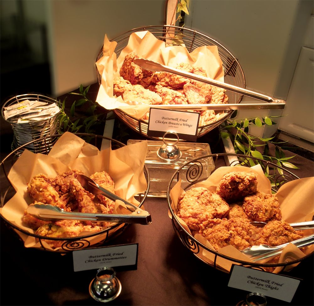 fried chicken station graduation party foods buffet reception rh pinterest com