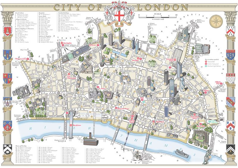 Map City London.Illustrated Maps Of London Mike Hall London In 2019 London