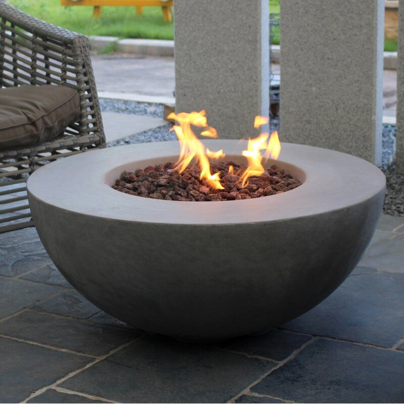 Schoen Concrete Propane Natural Gas Fire Pit In 2020 Natural Gas Fire Pit Fire Pit Wayfair Gas Firepit