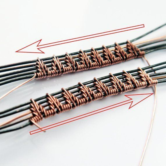 DRAHTWICKELN TUTORIAL DRAHTSCHMUCK Tutorial Wire Wrap Tutorial Ohrringe Drahtweb-Tutorials