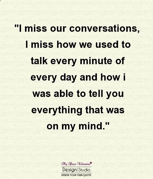 I miss when you used to talk to me. Then the fun stuff ended. Then you didnt talk to me anymore... ultimatedatingsys...