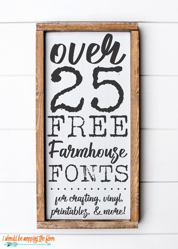 Over 25 Free Farmhouse Font Downloads | Perfect for crafting, vinyl cutters, printables, and more. Includes download instructions as well as helpful pairing tips and tricks.