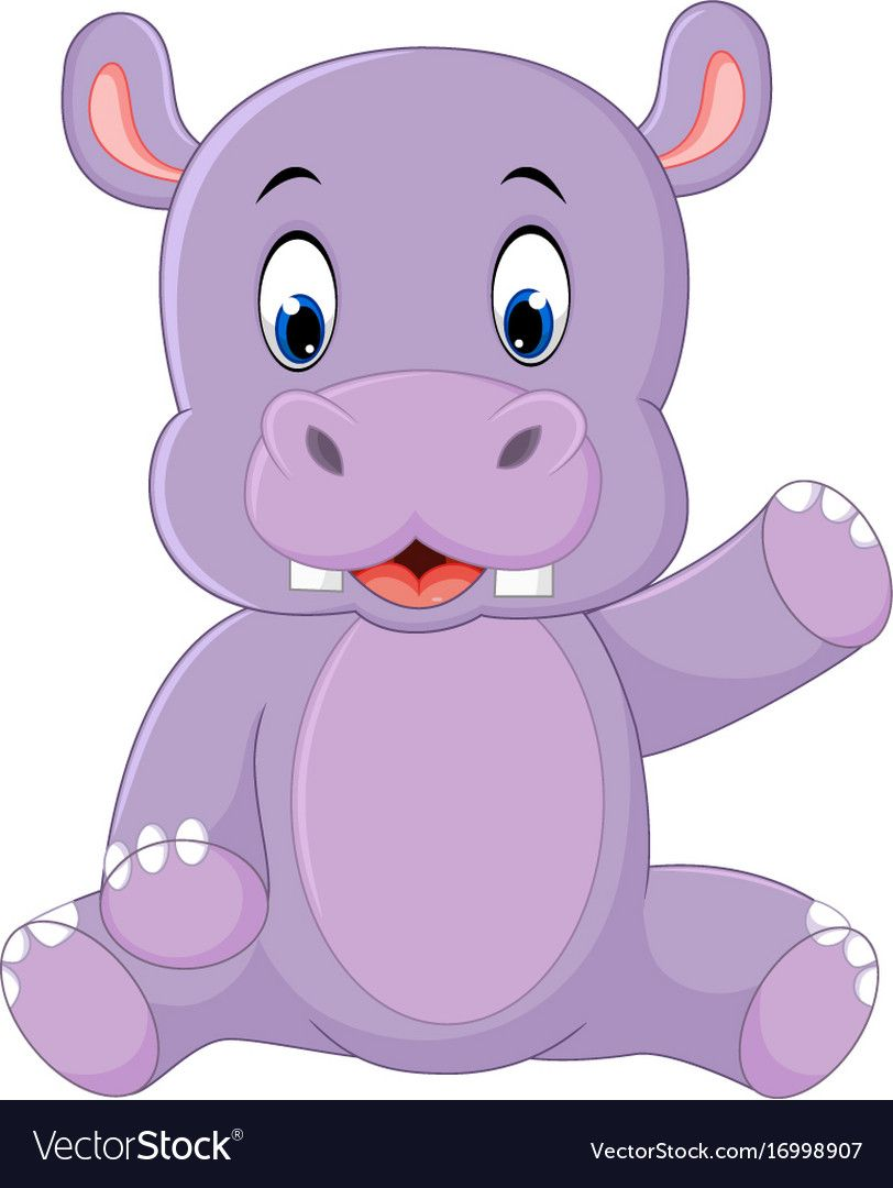 Illustration Of Cute Hippo Cartoon Download A Free Preview Or High Quality Adobe Illustrator Ai Ep Baby Animal Nursery Art Cute Hippo Cute Cartoon Wallpapers