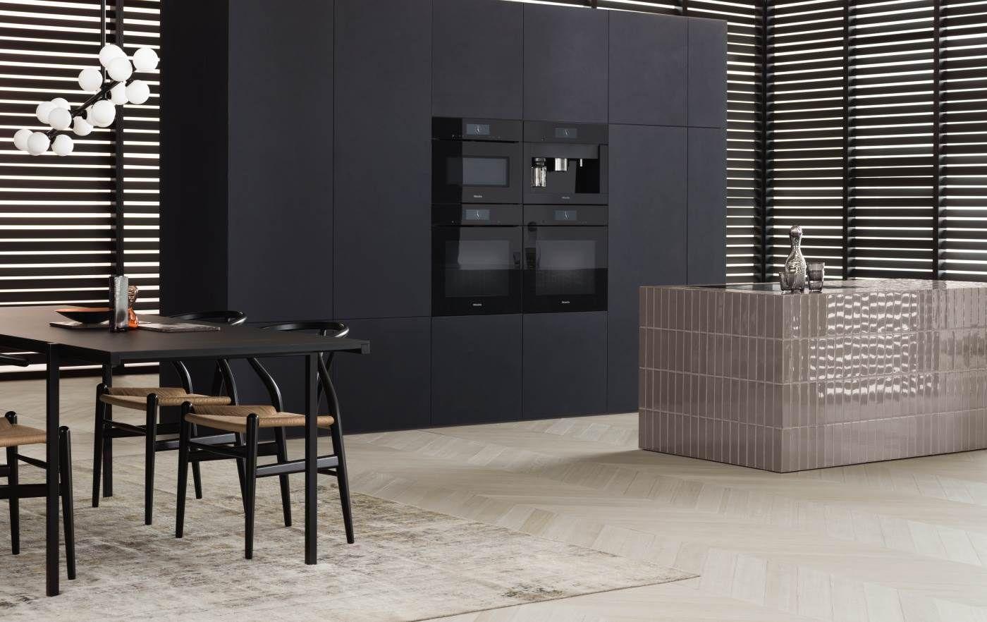 Koffiemachine De Keuken : Grijze keuken met grijze miele stoom ovens en koffiemachine pl