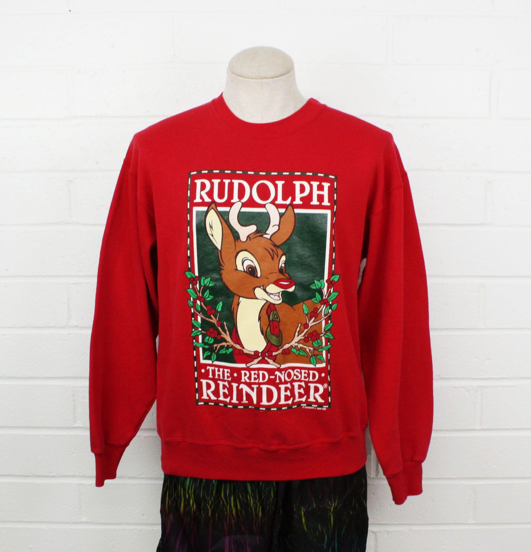 984bd6708 Vintage 90s Rudolph the Red-Nosed Reindeer Christmas Cartoon ...